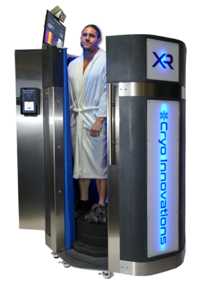 Cryo Innovations XR with door open man standing inside