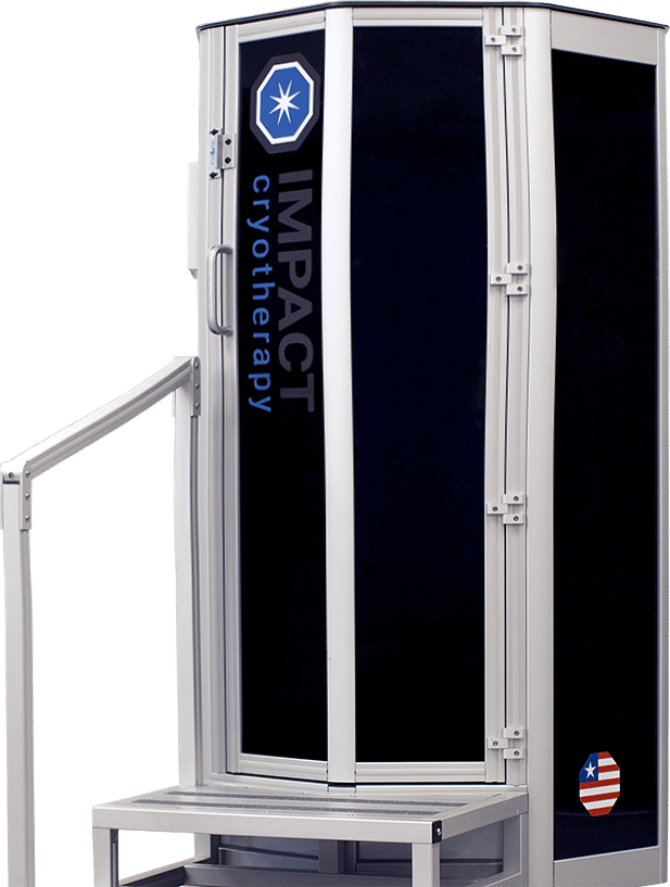 Best Cryotherapy Machines of 2019.  The Impact Cryosauna in black color with door closed.